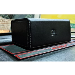 Honda Leather Car Tissue Box Black-SehgalMotors.Pk
