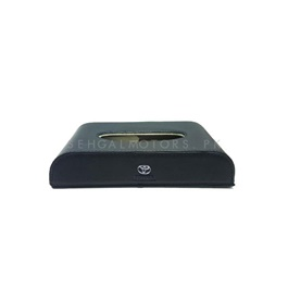 Toyota Logo Car Tissue Box 5CM - Black  | Tissue Holder | Modern Paper Case Box | Napkin Container Tray | Towel Desktop-SehgalMotors.Pk
