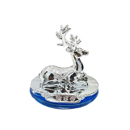 Markhor Sculpture Dashboard Perfume - Chrome-SehgalMotors.Pk