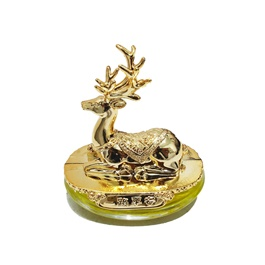 Stag Sculpture Dashboard Perfume - Golden-SehgalMotors.Pk