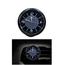 Audi Car Dashboard And AC Grill Clock  | Car Dashboard Quartz Clock | Car Clock | Mini Automobiles Internal Stick On Digital Watch | Auto Ornament Car Accessories Gifts-SehgalMotors.Pk