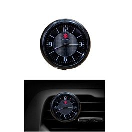 Suzuki Car Dashboard And AC Grill Clock  | Car Dashboard Quartz Clock | Car Clock | Mini Automobiles Internal Stick On Digital Watch | Auto Ornament Car Accessories Gifts-SehgalMotors.Pk