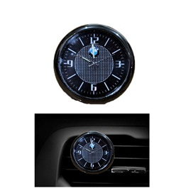 BMW Car Dashboard And AC Grill Clock | Car Dashboard Quartz Clock | Car Clock | Mini Automobiles Internal Stick On Digital Watch | Auto Ornament Car Accessories Gifts-SehgalMotors.Pk
