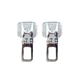 Honda Diamond Style Seat Belt Clips - Pair-SehgalMotors.Pk