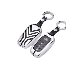 Toyota Fortuner Key Shell Keycase Full Chrome - Model 2016-2019-SehgalMotors.Pk
