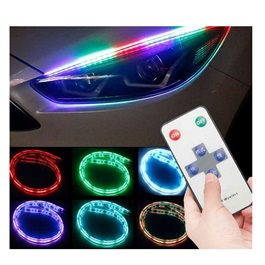 Universal Flexible Headlight / Head Lamp DRL RGB Color External-SehgalMotors.Pk