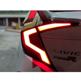 Honda Civic Audi Style Lava Back Lamps Smoke - Model 2016-2019