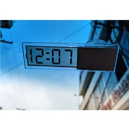 Mini Dashboard Windshield Car Auto Clock For Front Screen Transparent Digital Time-SehgalMotors.Pk