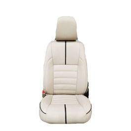 U.A.E Japanese Leather Type Rexine Seat Covers Beige with Black Lines