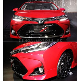 Toyota Corolla Front Bumper Face Lift Thailand Model Fiber Glass - 2017-2019