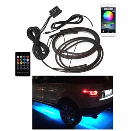 Car Flexible LED Strip Auto Chassis APP Control RGB Decorative Atmosphere Lamp -SehgalMotors.Pk
