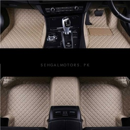 Toyota Prado 7D Floor Mats Beige 4PC - Model 2009-2018-SehgalMotors.Pk