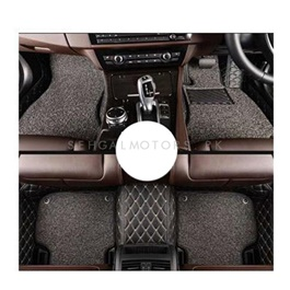 Toyota Corolla 9D Floor Mats Black With Grey Grass - Model 2014-2017-SehgalMotors.Pk