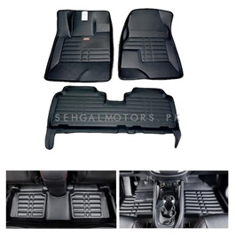 Toyota Hilux Vigo 5D Custom Floor Mat Black - Model 2005-2016-SehgalMotors.Pk