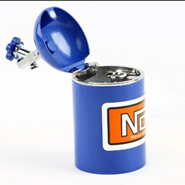 Car NOS Cylinder Can Portable Car Ashtray For Smokers Blue -SehgalMotors.Pk