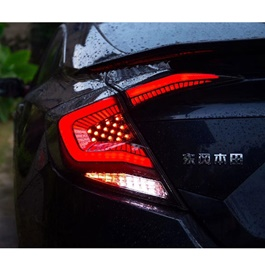 Honda Civic Snake Style Lava Back Lamps / Back Lights Red- Model 2016-2021-SehgalMotors.Pk