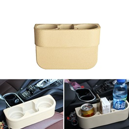 Seat Gap Filler with Cup Drink Holder Beige - Each-SehgalMotors.Pk