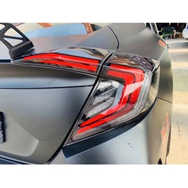 Honda Civic Cobra Double Bar Style Lava Back Lamps - Model 2016-2019