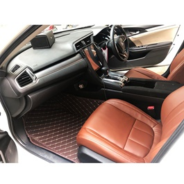 Honda Civic 7D Luxury Floor Mats Coffee - Model 2016-2019-SehgalMotors.Pk