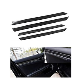 Honda Civic Inner Door Line Carbon Fiber Moulding 4 Pcs - Model 2016-2021-SehgalMotors.Pk