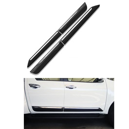 Toyota Hilux Revo Black Chrome Matte Door Moulding - Model 2016 - 2019-SehgalMotors.Pk
