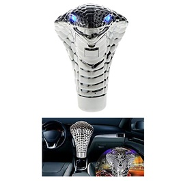 Cobra Gear Shift Knob For Auto  Chrome With LED - Multi Color-SehgalMotors.Pk