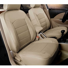 Toyota Corolla Genuine Leather Seat Covers Beige - Model 2017-2019-SehgalMotors.Pk