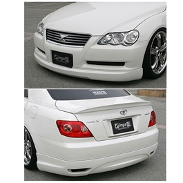 Toyota Mark x OEM Style Front and Sides Body Kit 3 Pcs - Model 2006-2010