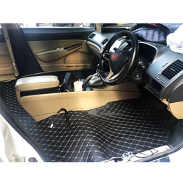 Honda Civic Reborn 7D Floor Matting Black - Model 2006-2012-SehgalMotors.Pk