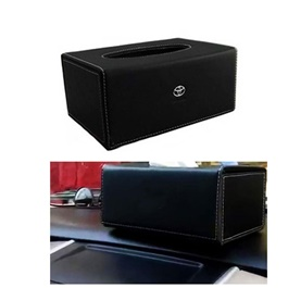 Toyota Leather Car Tissue Box Black-SehgalMotors.Pk