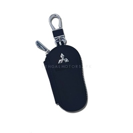 Mitsubishi Zipper Leather Key Chain / Key Ring-SehgalMotors.Pk