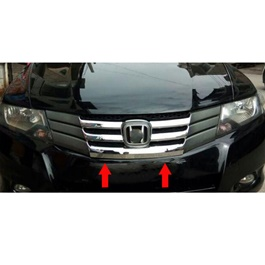 Honda City Chrome Grille for Model 2008-2014 | Front Grille For City | City Grille | Chrome Front Grille | New Style Grille | Chrome Car Front Up Grille | Decoration Trim,Grill Bar For Honda City-SehgalMotors.Pk