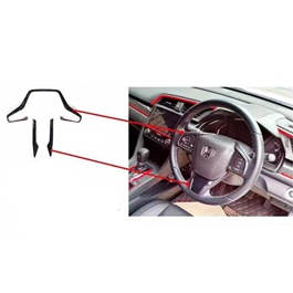 Honda Civic Steering Carbon Fiber Trim - Model 2016-2019