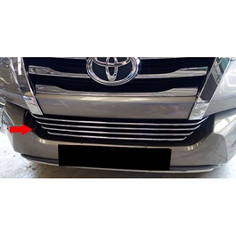 Toyota Fortuner Bumer Grille Chrome Trims 4PC - Model 2016-2020-SehgalMotors.Pk