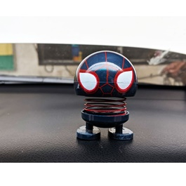 Bouncing Car Dashboard Smileys Emoji Emoticon Toy - Dead Pool Dark Spider Man-SehgalMotors.Pk