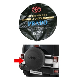 Toyota Prado Spare Wheel Cover - Model 1996-2002 | Tire Cover | Car Spare Wheel Cover | Spare Tire Cover-SehgalMotors.Pk