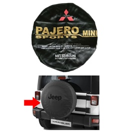 Mitsubishi Pajero Mini Spare Wheel Cover - Model 1994 - 2012-SehgalMotors.Pk