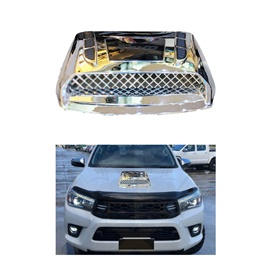 Toyota Hilux Revo Bonnet Scoop Full Chrome - 2016-2019-SehgalMotors.Pk