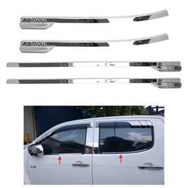 Isuzu D-Max / DMax / D Max Chrome Weather Strips Thailand - Model 2018-2020-SehgalMotors.Pk