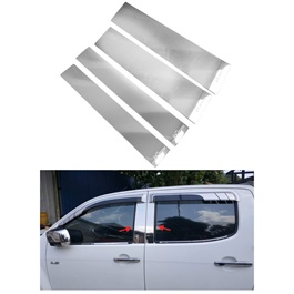 Isuzu D-Max / DMax / D Max Door Pillar Chrome Trims Thailand - Model 2018-2020-SehgalMotors.Pk