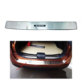 Honda Civic Rear LED Chrome Bumper Protector - Model 2016-2019-SehgalMotors.Pk