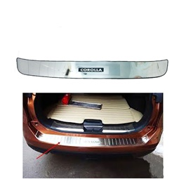 Toyota Corolla Rear LED Chrome Bumper Protector - Model 2017-2019-SehgalMotors.Pk