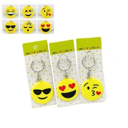 Emojis Emoticons Smileys Pvc Keychain - Mix Design - 1 Piece-SehgalMotors.Pk