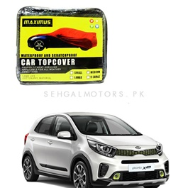 KIA Picanto Maximus Non Woven Scratchproof Waterproof Car Top Cover - Model 2019 - 2020-SehgalMotors.Pk
