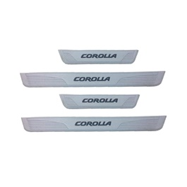 Toyota Corolla Rubber Door Sill Plates Grey - Model 2017-2020-SehgalMotors.Pk