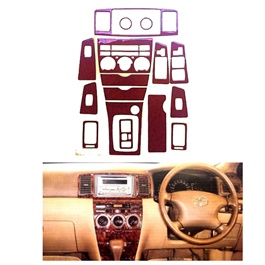Toyota Corolla Matte Wood Style Interior - Model 2002-2008-SehgalMotors.Pk