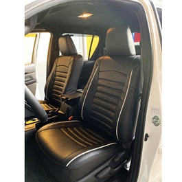 Toyota Hilux Revo Black Cut Style Seat Covers - Model 2016-2019-SehgalMotors.Pk