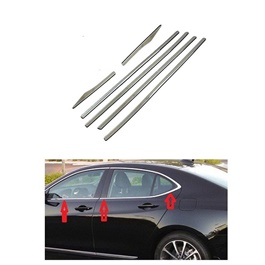 Honda City Weather Strip Chrome – Model 2003-2006 | Outside Window Door Belt Weatherstrip Weather Strip Seal Trims-SehgalMotors.Pk