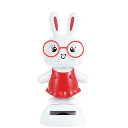 Solar Powered Dancing Rabbit Car Dashboard Decor-SehgalMotors.Pk