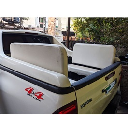 Toyota Hilux Revo Foldable Seats White - Model 2016-2019 -  Each-SehgalMotors.Pk